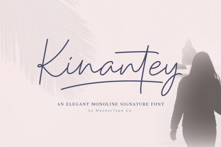 Kinantey - Monoline Signature Font