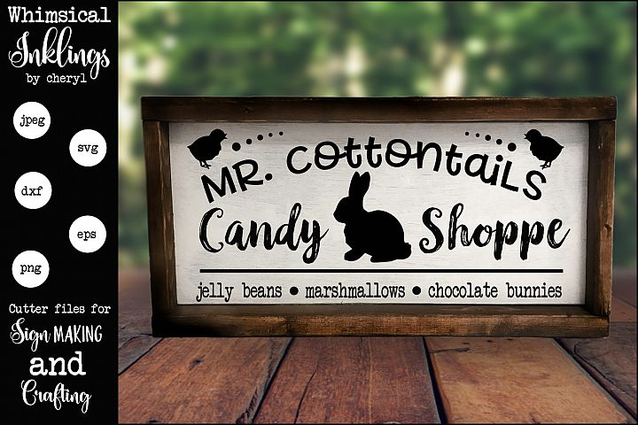 Mr Cottontails Candy Shoppe SVG