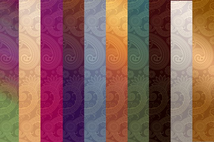 Gradient Paisley Pattern Background