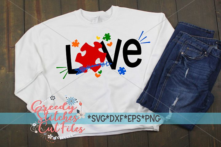 Autism Awareness Love SVG DXF EPS PNG