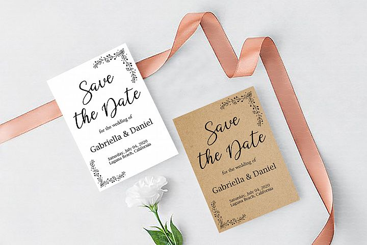 Printable Save The Date Template, instan download, DAD_03