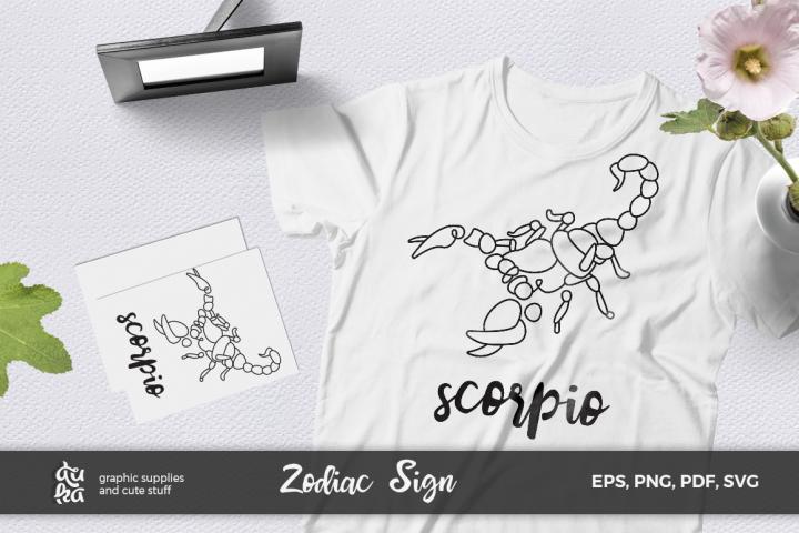 Zodiac Sign SVG Cut Files- Scorpio