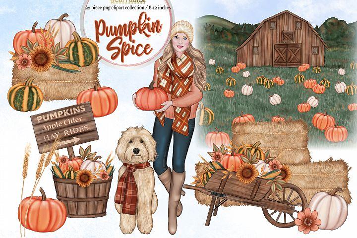 Pumpkin Spice - Autumn clipart collection