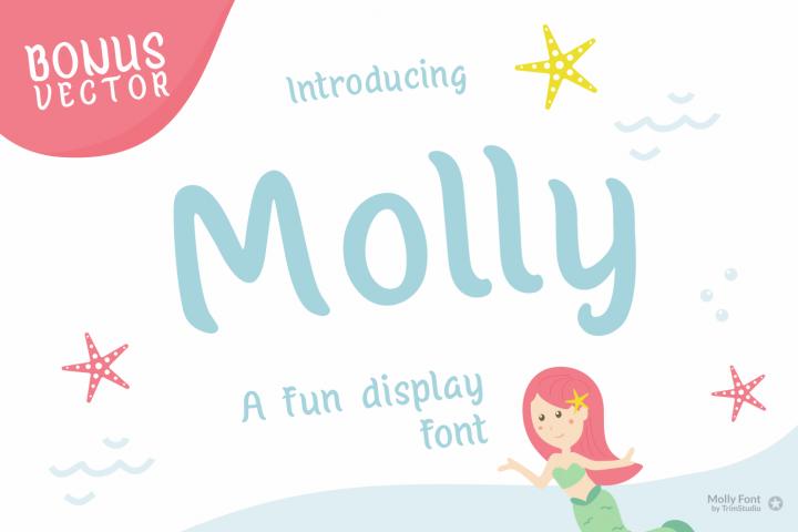 Molly - Mermaid Display font