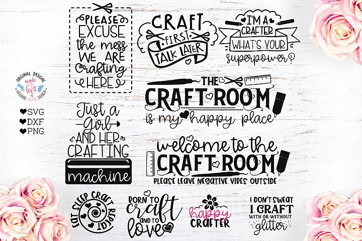Crafting Mini Bundle in SVG, DXF, PNG