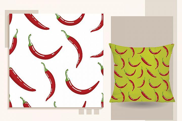 chili Seamless pattern