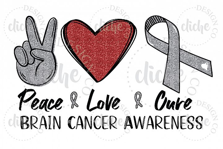 Brain Cancer Awareness Sublimation Design