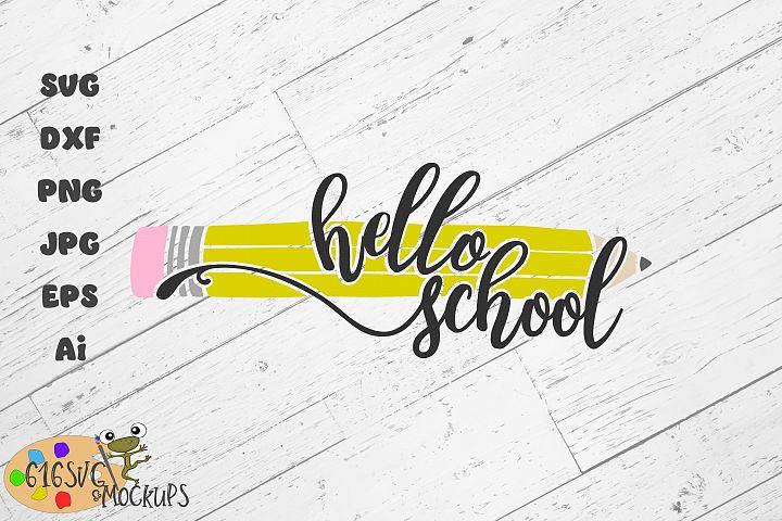 Hello School SVG