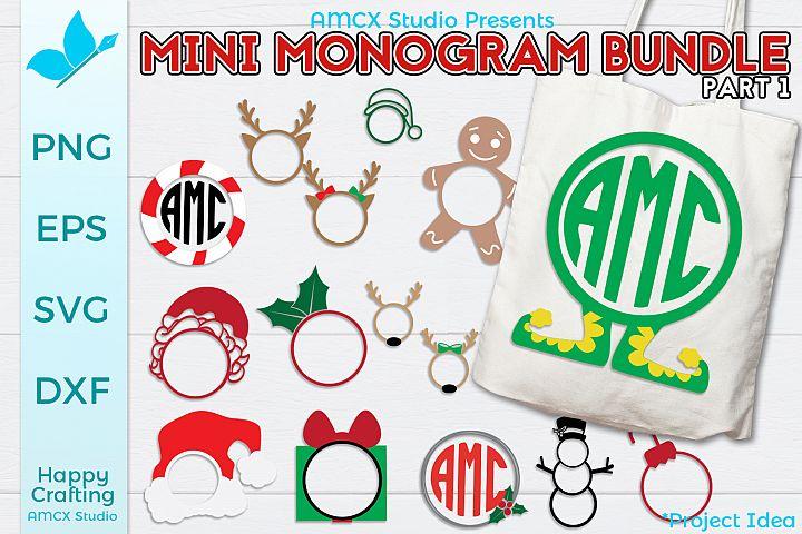 Mini Holiday Monogram Bundle Part 1 - 15 Designs
