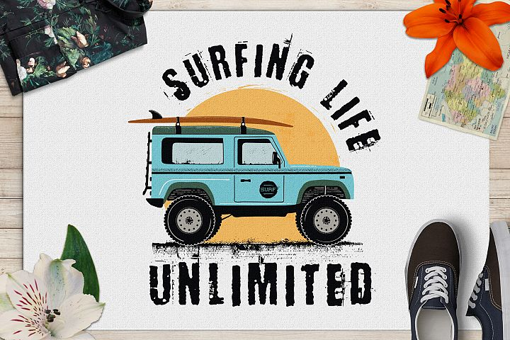 Surfing Life Logo, Surf Retro Emblem, Summer Badge SVG