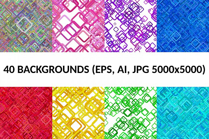 40 Seamless Square Backgrounds (AI, EPS, JPG 5000x5000)