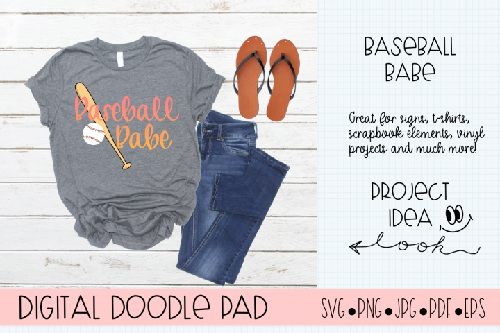 Baseball Babe SVG |Silhouette and Cricut Cut Files