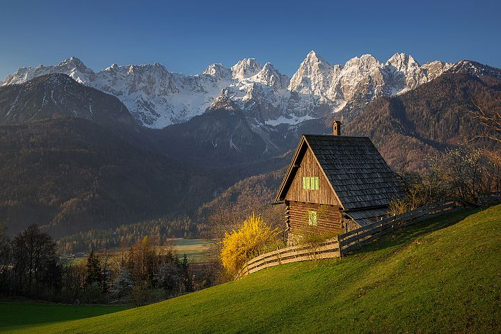 Cottage below the Julian Alps