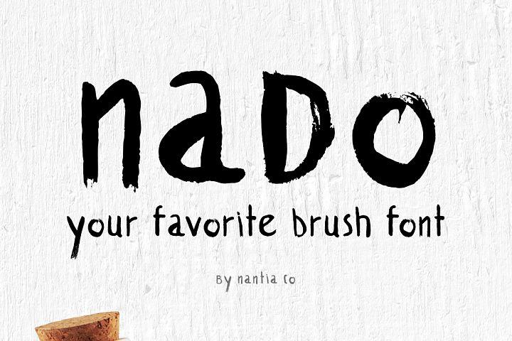 naDo Font   The Brush Font