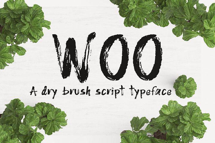 WOO Dry Brush Script Typeface