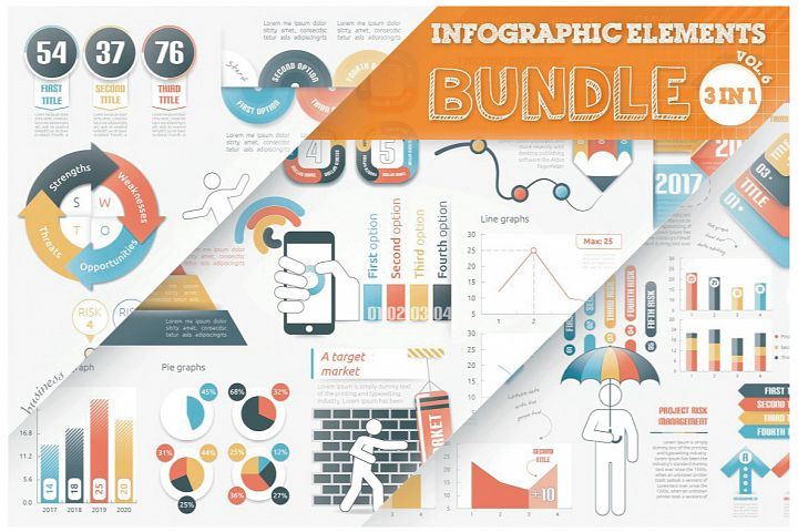 Infographic Elements Bundle 3 in 1 (vol 6)
