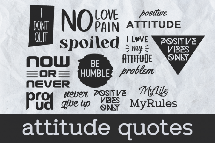 Attitude Quotes Print Ready EPS SVG and PNG