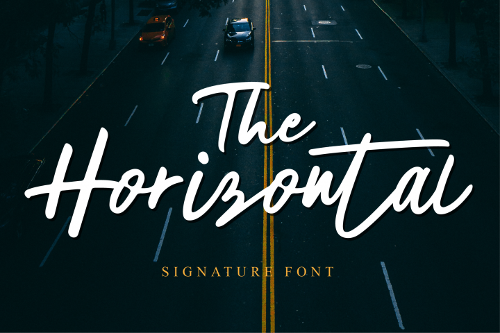 The Horizontal Signature Font