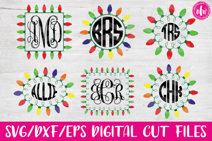 Christmas Lights Bundle - SVG, DXF, EPS Cut Files