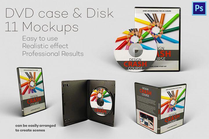 Photorealistc DVD case & Disk 11 Mockups