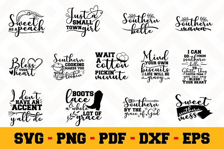 Southern 13 Designs Pack | Southern SVG Bundle