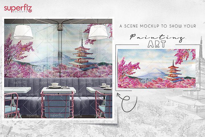 Wall Mockup Interior Scene SM46