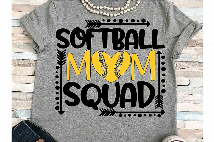 Softball SVG DXF JPEG Silhouette Cameo Cricut Softball mom
