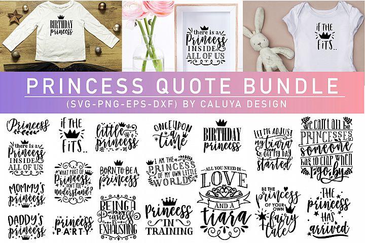 Princess Quote SVG Cut File Bundle