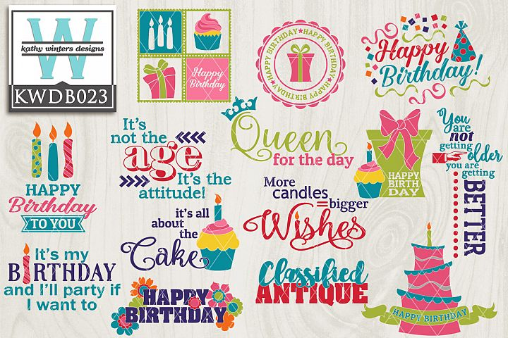 Birthday SVG - Birthday Bundle KWDB023