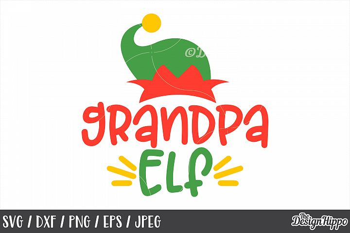 Grandpa Elf SVG, Elf family, Elf Hat, Christmas, PNG, Cricut