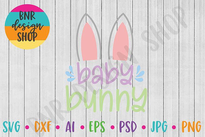 Easter SVG, Baby Bunny SVG, SVG File, Cut File