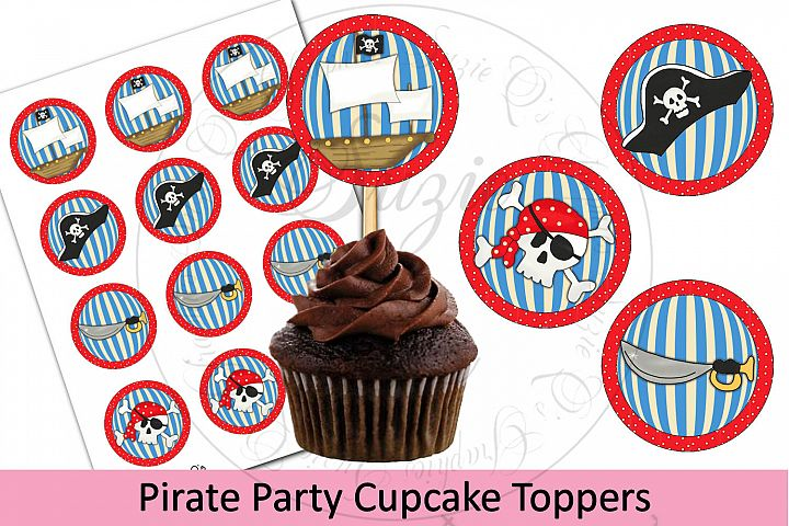 PirateParty Cupcake Toppers