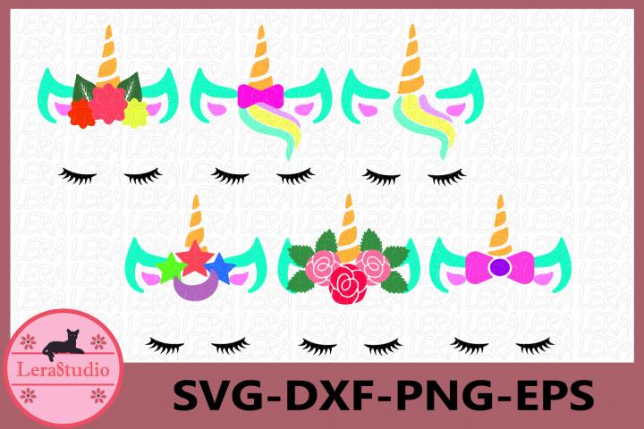 Unicorn svg, Unicorn with eyelashes, Unicorn face SVG