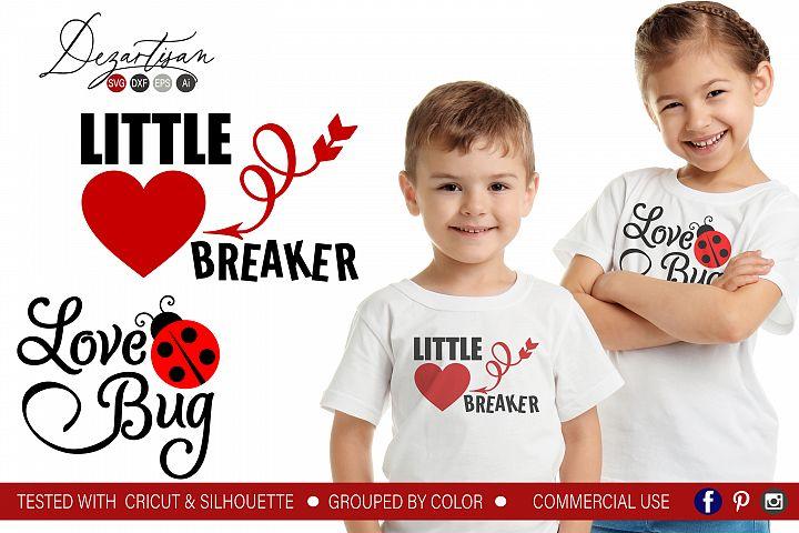 Little Heart breaker Love Bug SVG DXF cut file