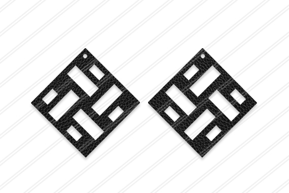 Earrings svg, Abstract earrings svg, Jewelry svg, leather