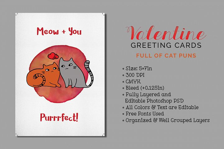 3 Valentines Greeting Cards