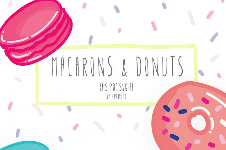 Macarons & Donuts Vector Pack