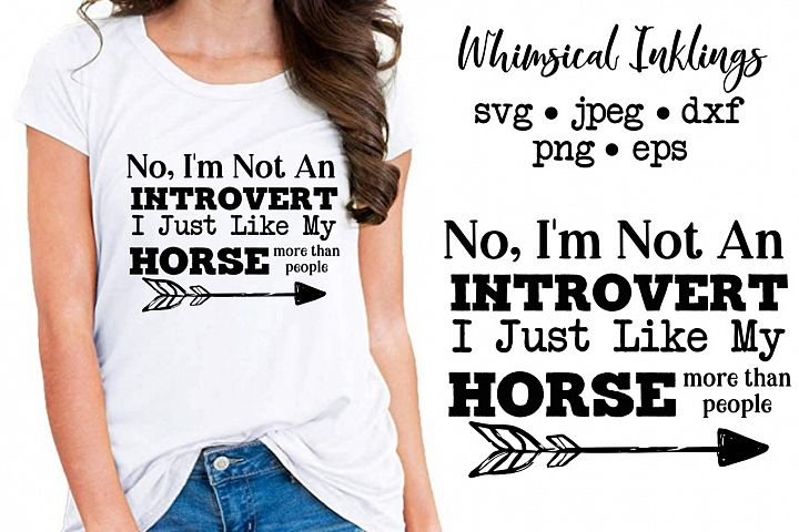 I Like My Horse SVG