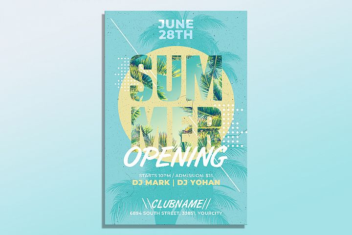 Summer Flyer Invitation Template