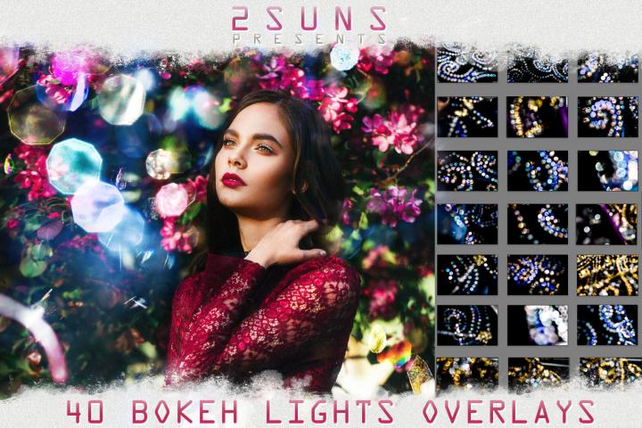 40 Bokeh Photo Overlays textures