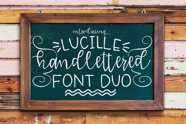 Lucille Handlettered Duo - Free Font of The Week Font