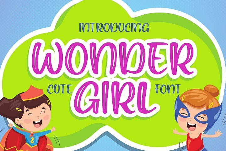 Wonder Girl - Cute Font