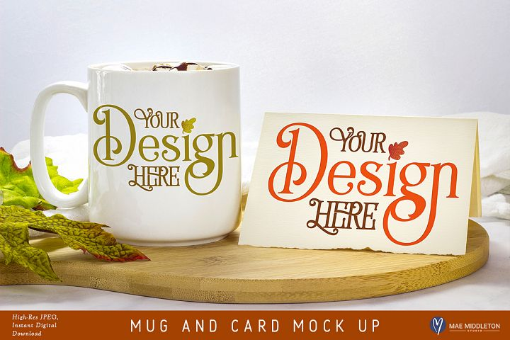 Mug and Card Mock up