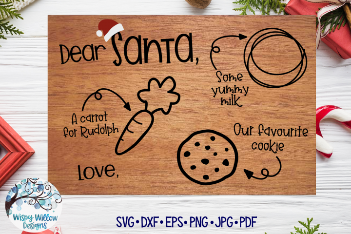 Santa Tray SVG | Christmas Cookie Tray SVG | Favourite