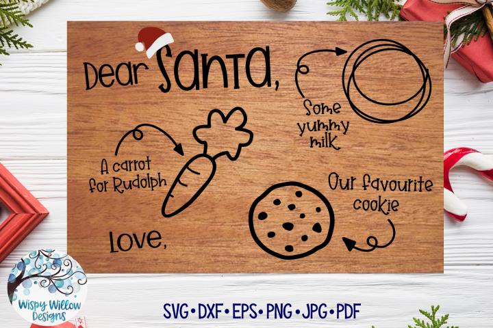 Santa Tray SVG   Christmas Cookie Tray SVG   Favourite