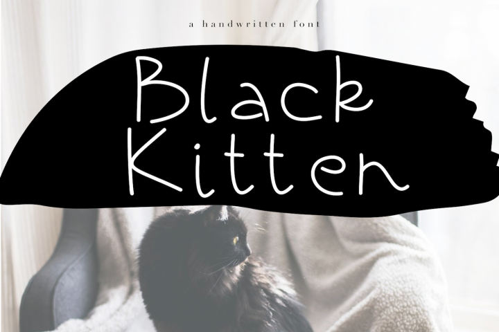 Black Kitten - A Handwritten Font
