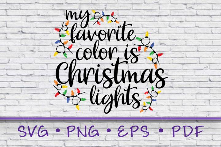 Favorite Color, Christmas Lights svg, My Favorite Color