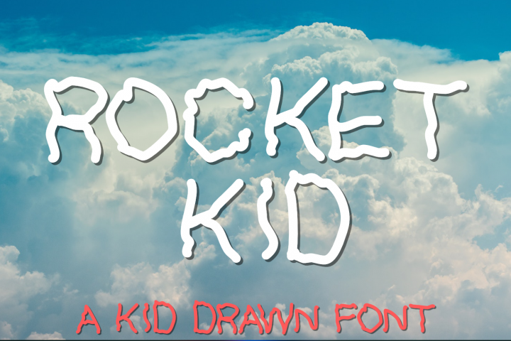 Rocket Kid | An All Caps Kid Drawn Font