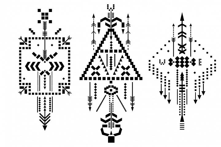 Boho totem. Sacred geometry example 4