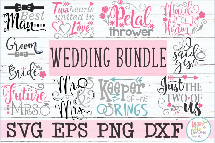 Wedding engagement Bundle SVG DXF EPS PNG cutting files